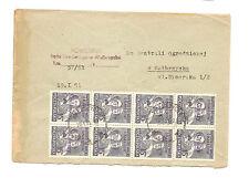 Polen Briefmarken Brief von 1951 Groszy Aufdruck Sechsjahrplan Mi 665