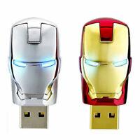 2TB 128GB Metal USB 2.0 Flash Drive Memory Stick Pen U Disk Swivel Key Thumb PC