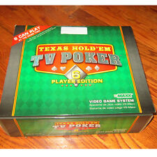 TEXAS HOLD'EM TV POKER 6 PLAYER ELECTRONIC VIDEO GAME SYSTEM  USA Played Once