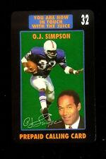 Oj Simpson Football Prepaid Telephone Calling Card Promo