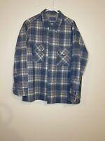 Vtg PENDLETON Board Shirt XL loop collar shadow plaid 60s