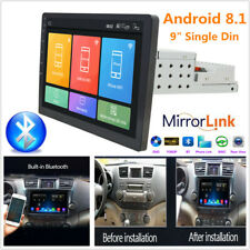 "9"" Single Din Android8.1 Car Stereo GPS DVD WiFi 1G+16G Player Height Adjustable"