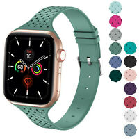 Silicone Narrow Sport Band fits w/ Apple Watch Series 6, 5, 4, 3, 2, 1 38mm/40mm