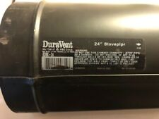 """6"""" Dia. x 24"""" Long Black Stove Pipe 24 Gauge Single Wall Steel (Never used)"""