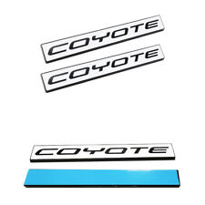 (2pc) Ford Mustang GT 5.0 Emblem F150 FX4 Coyote V8 5.0L Decal Badge - WHITE