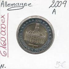 2 Euros - ALLEMAGNE - 2009 - Lettre: A // Pièce de Monnaie en Qualité: Neuve