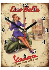 Publicité, Vintage, Scooter VESPA en Horloge murale -02hm