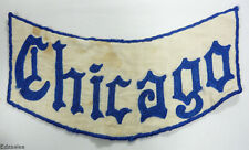 Vintage Chicago Patch - Motorcycle Bikers Club Hometown Banner Patch