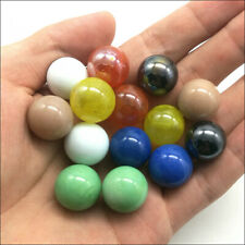 Wholesale 10/30pcs 16mm Glass Beads Marbles Kid Toy Fish Tank Decorate Mix Color