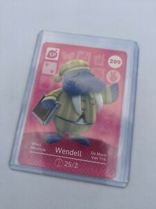 209 Wendell - Official Animal Crossing Amiibo Card Series 3, New and Unscanned