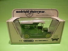 MATCHBOX YESTERYEAR Y-12 FORD MODEL T 1912 - 25 YEARS 1:35 - RARE SELTEN - NMIB