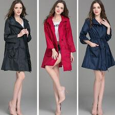 Fashion Women Gril Dot Hooded Waterproof Breathable Travel Raincoat Rain Coat
