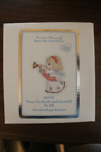 "Precious Moments 2013 Figurine, ""Peace on Earth and Goodwill to All"" #131001 NIB"