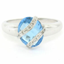 Topaz Solitaire with Accents Unbranded Fine Rings