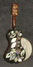 Dollhouse Miniature Mexican Wooden Guitar Mother of Pearl Inlay #7771 Wi-1704
