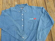 PADI Sportwear 100% Cotton Denim Shirt M, or L   GREAT GIFT !!!!