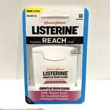 1 Pack Listerine Reach Gentle Gum Care Cinnamon Mint Floss For Sensitive Gums