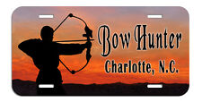 Archery Bow Arrow Hunter License Plate Personalize Name Text Gifts Male Archer