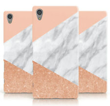 DYEFOR MARBLE ROSE GOLD PINK PHONE CASE COVER FOR SONY XPERIA