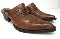 Ariat Mule Clog Boots Pointed Toe Brown Russet Rebel Western Shoes 97682 Sz 7 B