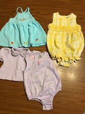 Lot Of Three Baby Girl Outfits Size 12 Months