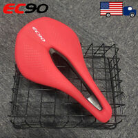 EC90 MTB Bicycle Saddle Gel Soft Leather Comfortable Cushions Steel Arch Seat US