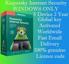 KASPERSKY INTERNET SECURITY 2020 - 5 DEVICE  2 YEAR  GLOBAL KEY FOR WINDOWS