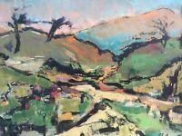 Peinture Sur Carton Hsc Paysage Expressionisme Signature A Identifier
