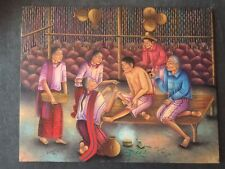 Guatemalan painting by Jose Antonio Pur Gonzalez 1993 16x20