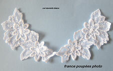 COL DENTELLE COTON BLANC VETEMENT ROBE POUPEE-COTON FRENCH LACE COLLAR_Réf.07