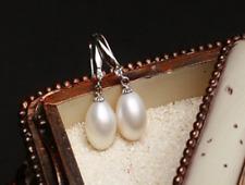 New!!! 8x9MM size White aquaculture Pearl Earring  AAA