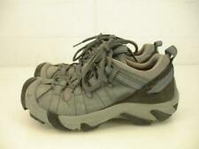 Womens 6.5 M Keen Targhee II Waterproof Hiking Shoes Gray Leather Lace-Up Trail