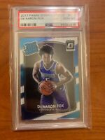 2017 Donruss Optic #196 De'Aaron Fox Kings RC Rookie PSA 10 GEM MINT
