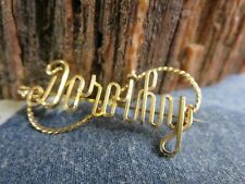"""WW2 Era Sterling Gold Plate Twisted Wire """"Dorothy"""" Brooch Pin RP21"""