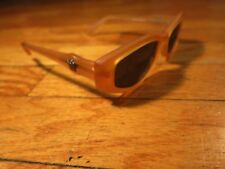 MINT VTG Versace Clear Orange Sunglasses Made in Italy 343 631 Medusa Head