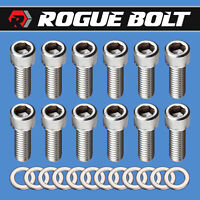 SBC INTAKE MANIFOLD BOLTS STAINLESS STEEL KIT 283 327 350 400 SMALL BLOCK CHEVY