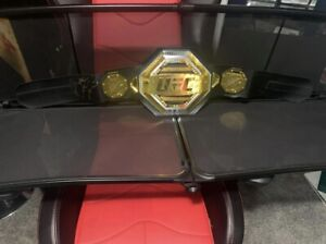 UFC Signed Belt Dustin Poirier with Certificate of Authenticity PSA DNA
