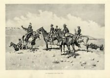 Frederic Remington Cavalry Officers Indian Horses Borderland Of The Other Tribe