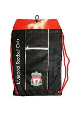 Liverpool Cinch Bag Sack  Soccer Book  Backpack Authentic Official Black