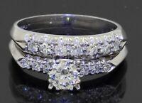 Antique Platinum .95CTW VS diamond bridal/wedding ring set w/.56CT ctr size 7.25