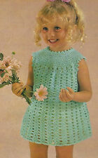 "Baby and Girls Lace Crochet Dress Pattern 22-32"" DK  687"