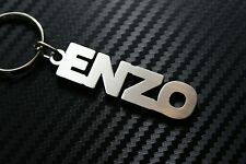 ENZO Personalised Name Keyring Keychain Key Fob Bespoke Stainless Steel Gift