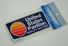 """NOS! VINTAGE! United States Pavilion 1982 World's Fair Patch - 5"""" X 2 1/2"""""""