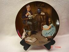 The Story Teller - Norman Rockwell - Knowles Collection Plate