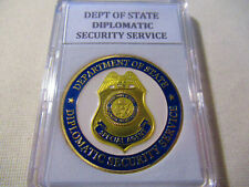 Department of State Diplomatic Security Service Challenge Coin (Gold finish)