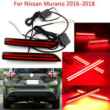 Rear Bumper Decoration Lamp Reflector LED Brake Light For Nissan Murano 2016-18