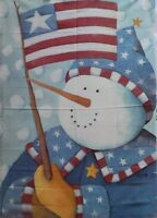 "Stars and Stripes USA Snowman Standard House Flag by Toland #2372, 28""x40"""
