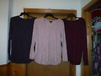 Long Sleeve Scoop Neck Warmer Blouses Simply Vera Vera Wang XL,L,M,Some Color