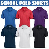 Childrens Gildan Dryblend POLO Shirt Boys Girls Plain School Uniform PE Top SALE