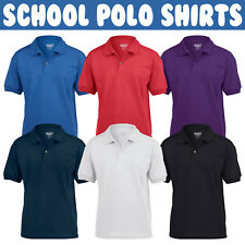 Childrens Gildan Dryblend POLO Shirt Boys Girls Plain School Uniform PE Top SALE